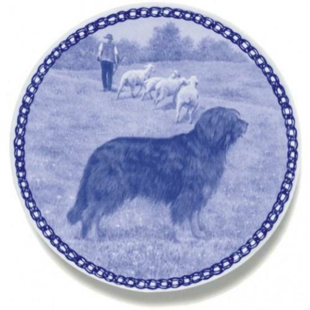Portuguese Water dog  Dog Plate made in Denmark from the finest European Porcel