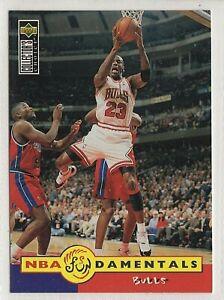 nba UPPER DECK 1996  MICHAEL JORDAN FUNDAMENTALS  BAKETBALL CARD #195 mint