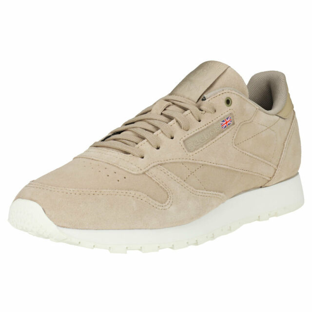 Reebok Classic Leather Mcc Mens Beige Suede Classic Trainers