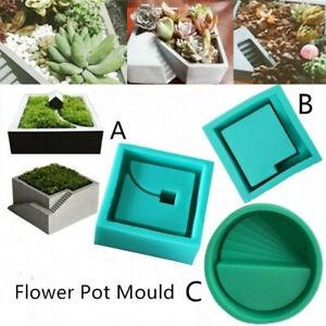 New-Flower-Pot-Mold-3D-Silicone-Concrete-Mold-Garden-Planter-Cement-Mould-DIY
