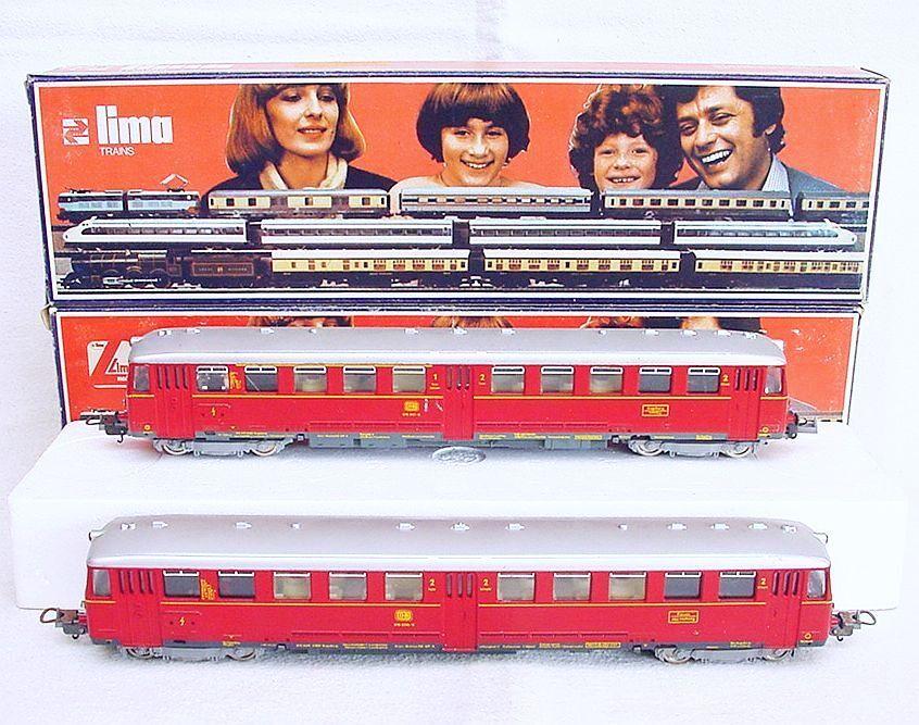 Lima HO 1:87 DB ETA 150 Motorized DIESEL MULTIPLE 2 UNIT Train Set MIB`78 RARE