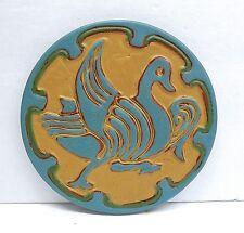California Faience Vintage Art Tile Duck