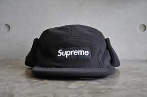 1f64afd09e4 Image is loading Supreme-Polartec-Fleece-Earflap-Black-Box-Logo-Camp-