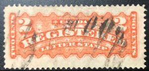 CANADA-1875-F1i-REGISTRATION-STAMP-ORANGE-RED-USED