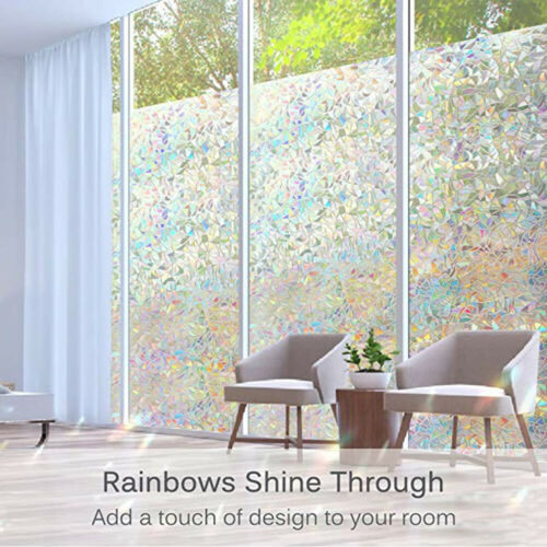 """Decorative Privacy Window Film Anti-UV Static Cling Stained Glass Film 78.7/"""" US"""