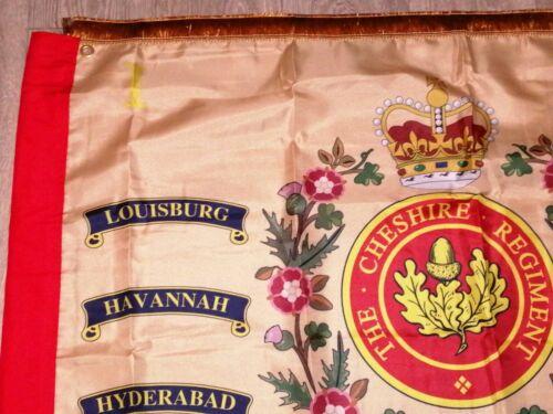 The Cheshire Regiment 1st battalion Regimental colours flag.