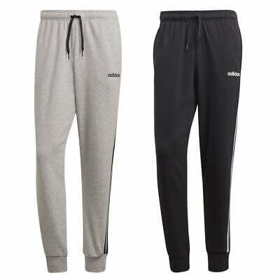 Adidas Mens Essentials 3-stripe Tapered Joggers (colours: Grey Or Black) Herausragende Eigenschaften