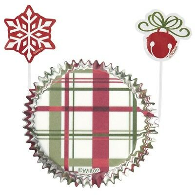 Buy Cheap Wilton 24pk Christmas Sweets & Treats Cupcake Cases & Picks Combo Pack Be Novel In Design Kitchen, Dining & Bar