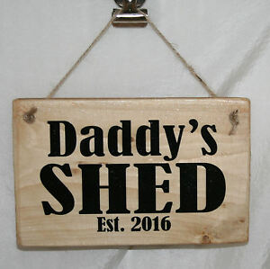 Shed door signs