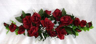 Burgundy Wine Swag ~ Roses Silk Wedding Flowers ~ Centerpieces Decorations Unity