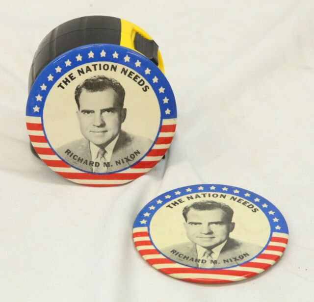 "Richard Nixon Watchmen: 2 The Nation Needs Richard M. Nixon 3-1/2 "" 1960 Campaign"