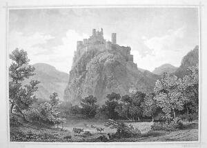ITALY-South-Tyrol-Castle-Firmiano-Castel-1870s-Original-Engraving-Print