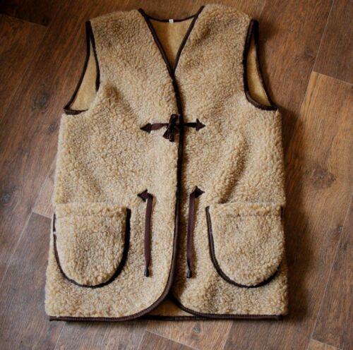 Natural Vest Sheep Wool Jacket Sheep Natural r7YrUWfwq