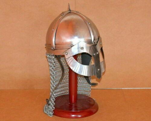 Armour Viking Helmet Battle Ready Warrior Chain mail Viking Helmet