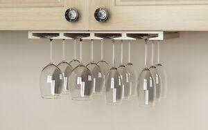 Wine Glass Rack Under Cabinet Hanger Stemware Holder Bar Kitchen