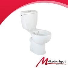 Wc Toilette Stand mit Spülkasten KERAMIK spülrandlos kompakt modern Stand-WC