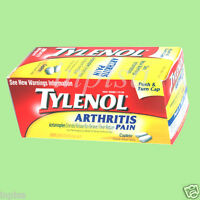 Tylenol Arthritis 4 Bottles X 290 Caplets 650 Mg Pain Reliever Acetaminophen