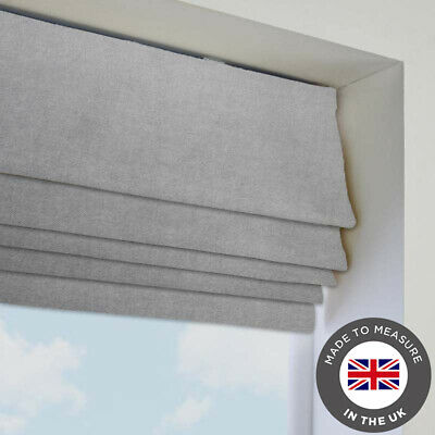 Made To Measure In The UK Big Sizes Light Grey Blackout Thermal Roman Blind