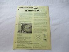 1968 Minneapolis Moline G1000 G900 Tractor Water Pumps Newsletter Brochure