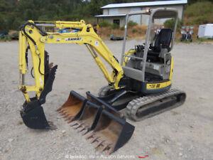2013 Yanmar V1027-5 Mini Excavator Rubber Track Backhoe Aux Hyd Diesel bidadoo