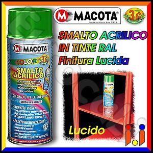 MACOTA-Vernice-Spray-400ml-Smalto-Acrilico-a-Scelta-Colori-RAL-Lucido-NON-COLA