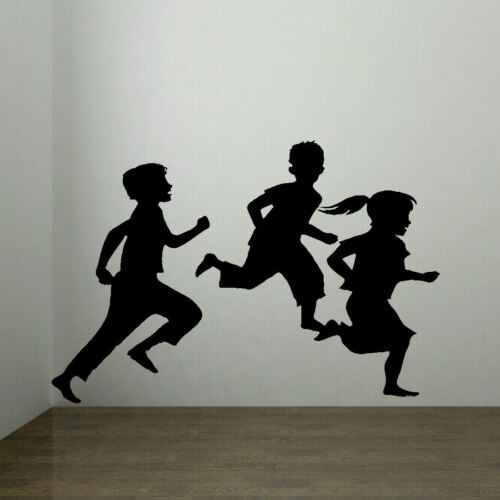 LARGE CHILDREN PLAYING CHILDRENS BEDROOM WALL MURAL STICKER ART TRANSFER VINYL