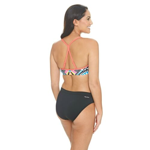 Zoggs Baker 2 Piece Swimming Costume Size 6 10 Womens Bikini Gym Aztec Print