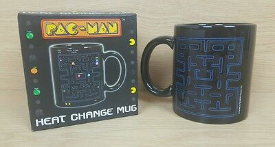 Pac-Man - Game Play Heat Change Ceramic Mug - New & Official In Box Namco Bandai