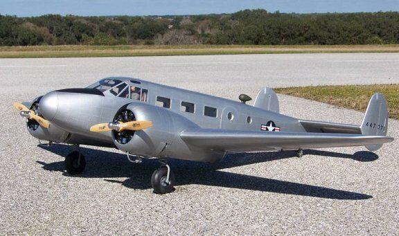Beechcraft D-18 C-45 82inch WS scratch scratch scratch build R c Plane Plans & Patterns 6f9c72