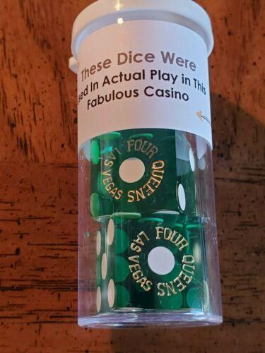 4 Queens Las Vegas Casino Green Dice.