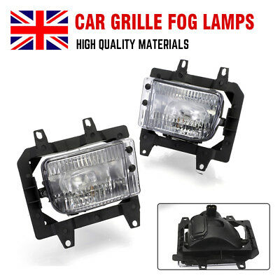 2x Front Fog Light Plastic Clear Lens For 1985-1993 BMW E30 3-Series Sedan Model