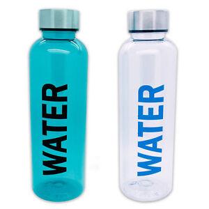 Wasserflasche-Sport-Wasser-Flasche-Trinkflasche-Kunststoffwasserflasche-2er-SET