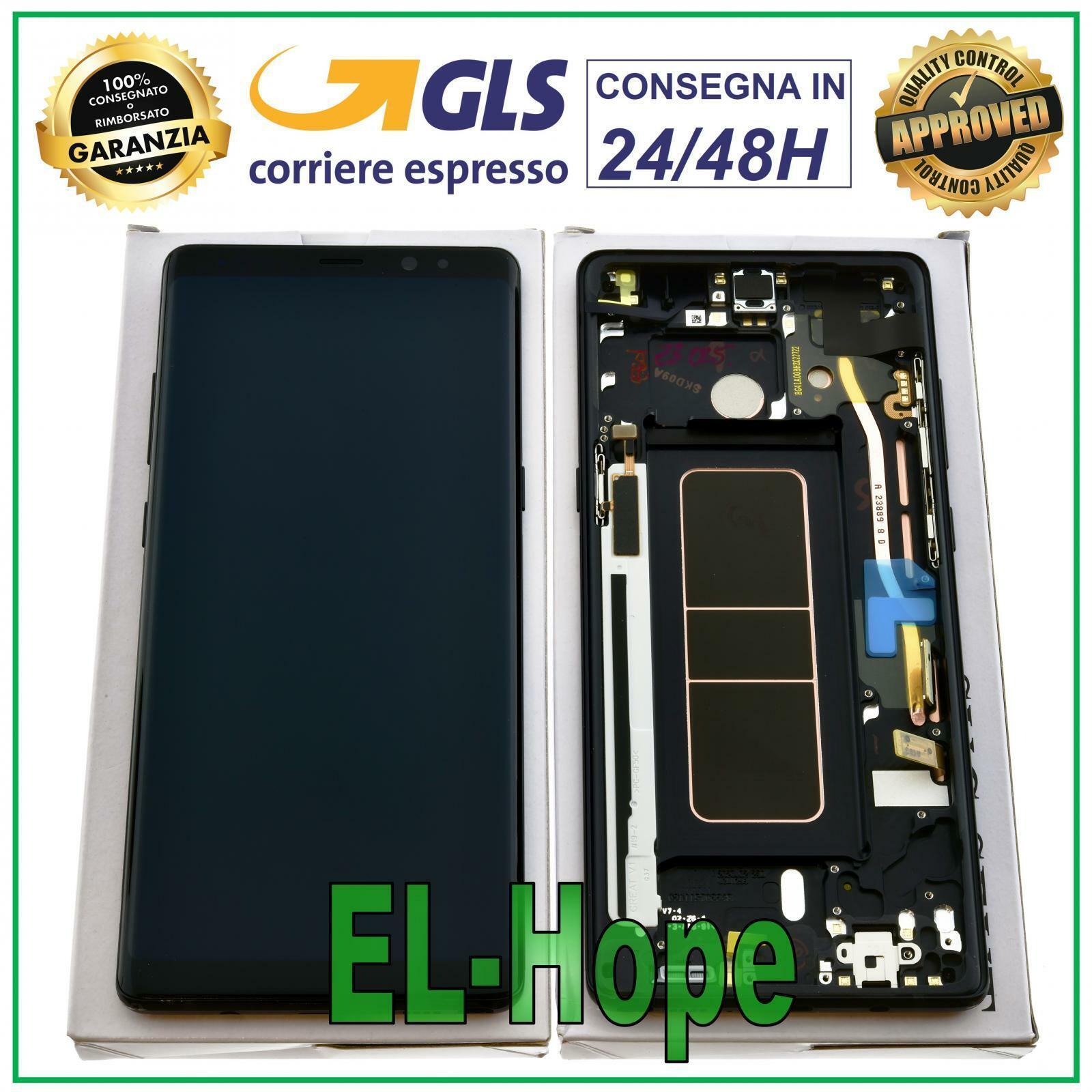 Samsung Galaxy: DISPLAY LCD ORIGINALE SAMSUNG GALAXY NOTE 8 SM-N950 SM-N950F TOUCH SCREEN NERO