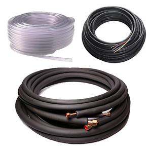 "Mini Split Line Set Kit 3//8/""x5//8/"" 15 ft Copper 20 Ft Power and 20 ft Drain"
