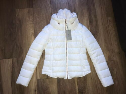 Rose Gold Zara Anorak Zips S Ladies Coat Jacket Puffa Puffer White Size Quilted aHCqnOvR