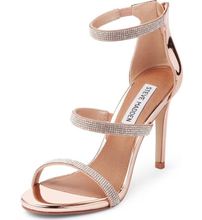 Steve Madden Smokin Ankle Strap Sandal Heel Sz 7.5M 4372
