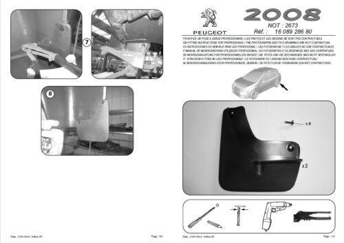 hinten Kunststoff OE 1608928680 NEU Original Schmutzfänger PEUGEOT 2008