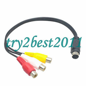 MMI AV Cable 9 PIN S-VIDEO to 3 RCA COMPONENT FOR TV ADAPTER NEW | eBay