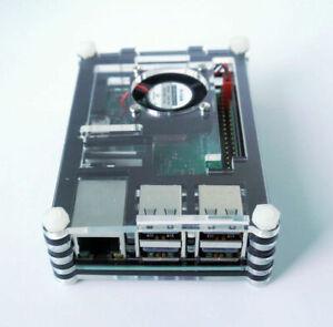 NEW-Raspberry-Pi-3-Model-B-Kit-Motherboard-Black-case-Fan-Heatsink