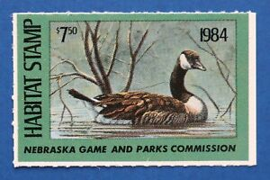 Image Is Loading U S NEH08 1984 Nebraska Habitat Stamp MNH
