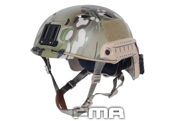 Airsoft FAST Base Jump BJ Type Helmet w/Rail Multicam SWAT Tactical Military Tactical SWAT 6e58db