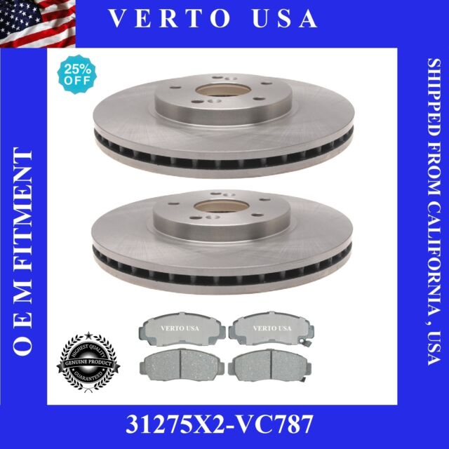 Front Brake Rotors & Ceramic Pads For Acura TL 1999-2000