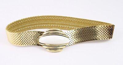 Dg99 Capannone Cintura In Vita Cintura Metallo Oro Elastici 65 - 95 Cm Vintage-mostra Il Titolo Originale