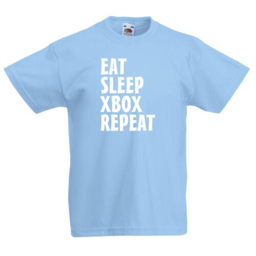KIds T-Shirt. Funny T-Shirt Youth T-Shirt Video Games Eat Sleep Xbox Repeat