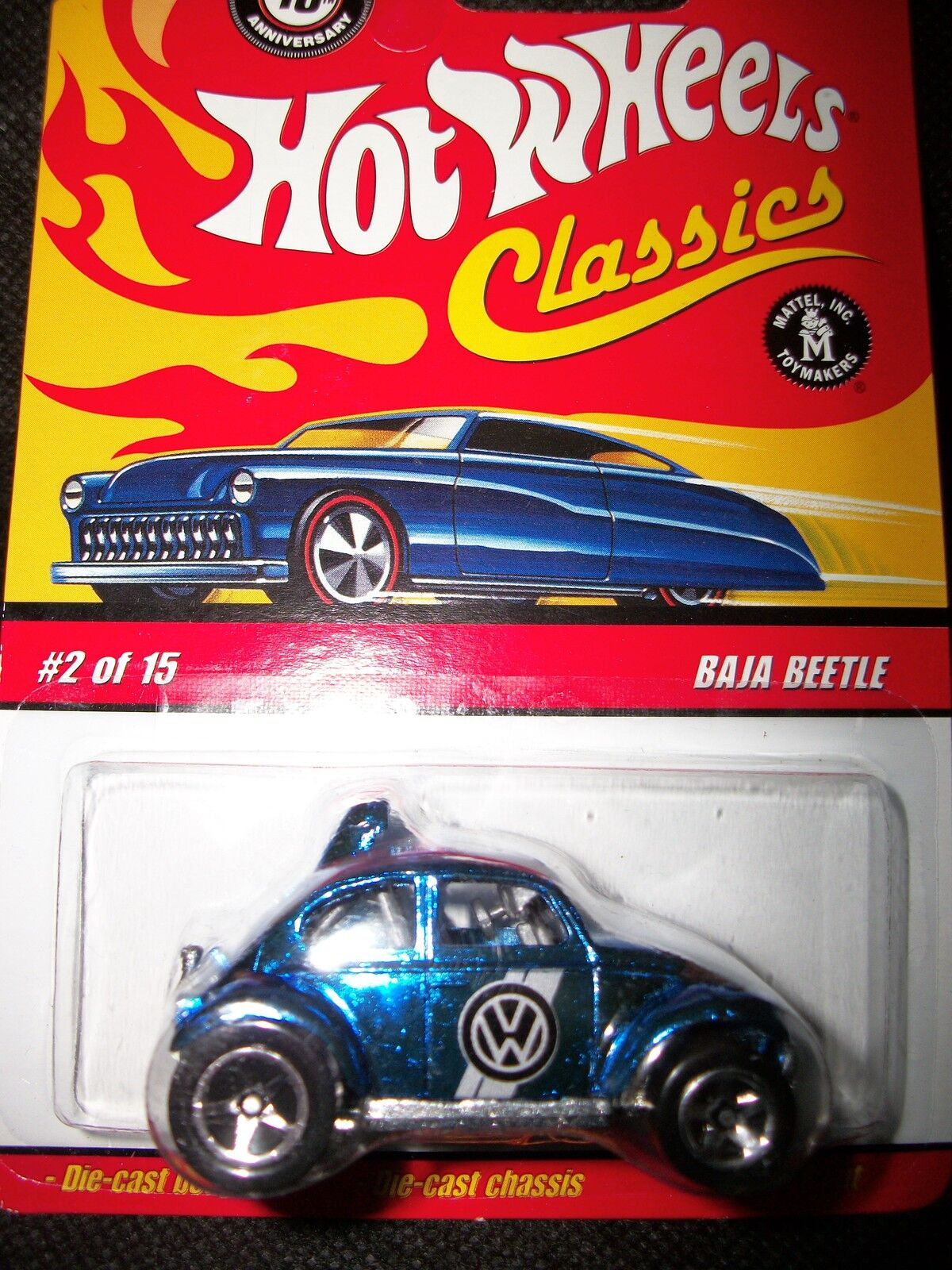 11 cars All NEW Hot Wheels Old School VW Beetles; all MOC, all different,