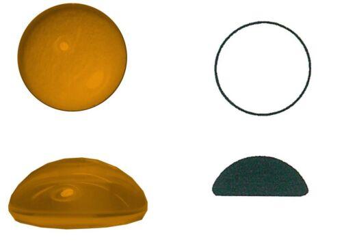 zu 4 Stk 4 mm Muggelstein Ø ca gerumpelt h ca rund 10 mm Ränder rondiert