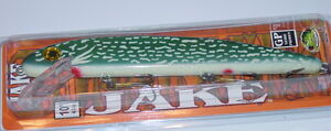 "8/"" Jake Musky Mania Muskie Pike Lure Crankbait Perch J8-02 Drifter Tackle"