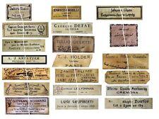 V107 Old Violin Fiddle Maker Labels Antique Copies Reproduction Set of 20 NICE!