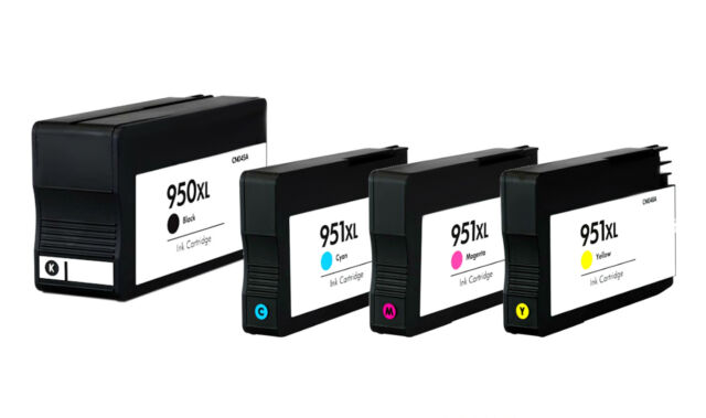 4 Ink Cartridges for HP Officejet Pro 8600 8100 8610 8620 8600 Plus 950XL, 951XL