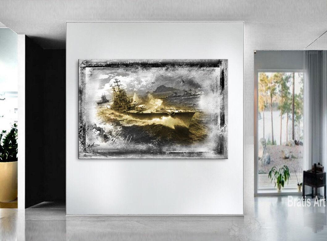 Les navires de militaire guerre militaire de Images Toile Abstrait la fresque art Pression Moderne 1813 A 0e6589